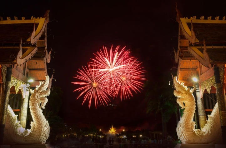 Fireworks in Honor of HM the King